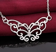 925 Silver Hollow Butterfly Pendant Necklaces Wedding/Party/Daily/Casual 1pc