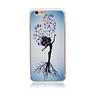 belo estilo árvore transparente TPU macio Capa para iPhone 5c