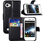 Litchi Around Open Bracket Leather Phone Wallet Card Suitable for Wiko CINK SLIM(Assorted Color)