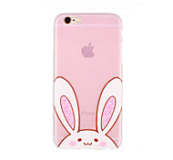 Big Eye of Figure Pattern Transparent TPU Soft Case for iPhone 6/iPhone 6S