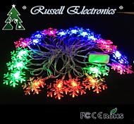 4m 20 led natale neve rgb forma di stringa di luce fata di Natale Natale ideale