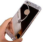 Diamond Crystal Rhinestone Mirror TPU Soft Gel Skin Cover for iPhone 5/5S(Assorted Colors)