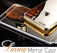 Luxury Aluminum Metal Frame Case + Ultra Slim Acrylic Mirror Back Cover For iPhone 6s 6 Plus