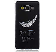 Don't Touch My Phone Pattern Transparent TPU Soft Case for Samsung Galaxy A3/A5