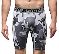 Corsa Pantaloni Per uomo Traspirante Corsa Sportivo Grigio Camouflage S / M / L / XL