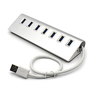 Portable 7-Port Aluminum Alloy USB 3.0 Super Speed 5.0Gbps Hub for Table&PC