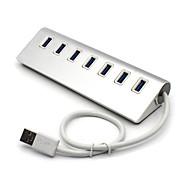 portatile 7 porte in lega di alluminio Hub USB 3.0 Super Speed 5.0Gbps per la tavola&pc