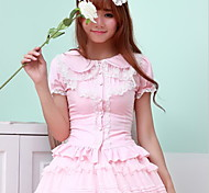 Sweet Lolita White / Black / Pink Blouse