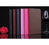 nova moda genuína caso tampa do slot do cartão da carteira da pele do couro da aleta de couro com casca Suporte para iPhone 6 mais / 6s
