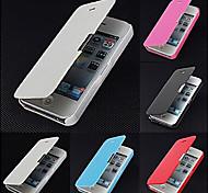 frosted Design magnetischen Wölbung Ganzkörper-Case für iPhone 4 / 4S (farbig sortiert)
