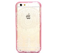 2-in-1 White Bells Pattern TPU Back Cover with PC Bumper Shockproof Soft Case for iPhone 6/6S