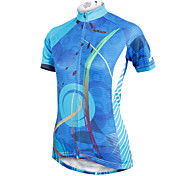 ilpaladinoSport Women Short Sleeve Cycling Jersey New Style Distinctive  DX593  Essay coil 100% Polyester