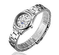 Ladies's Watches Tainless Steel Chain Waterproof Casual Gift Burst Watches