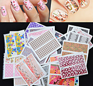 50pcs Nail Art Water Transfer Flower Design Nail Sticker Decals DIY Beauty Nail Tips Decoration Wraps Tools