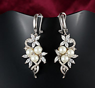 2015 Fashion Pearl Noble Wedding Party Drop Earrings For Woman&Lady