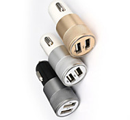 High Quality 3.1A Universal Metal Material Car Charger for for iPhone 6s/iPhone 6 Plus and Others