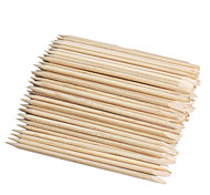 100PCS Nail Art Design Orange Wood Stick Cuticle Pusher Remover Manicure Care