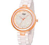Woman's Watch Diamond White Ceramic Fashion Waterproof Watch
