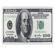 100 ci modello dollari antiscivolo panno gomma naturale tappetino quadrato di mouse mat (28 × 20 × 0,2 centimetri)