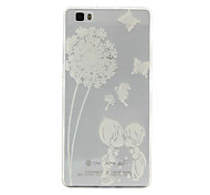 Couple Dandelion Pattern TPU Phone Case For Huawei P8 Lite