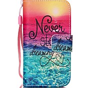 Sea Pattern PU Leather Material Flip Card Phone Case for iPhone 4/4S