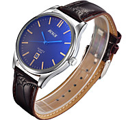 Men's  Watch Blue Face Of Foreign Trade Belt Single Calendar Waterproof Quartz Watch