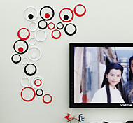 Wall Stickers Wall Decals, DIY  Circle Wooden Wall Stickers