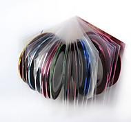 Jóias de Unhas - Punk - para Dedo - de PVC - com 1set - 0.8mm*20m - (cm)