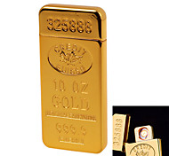 1928 Personality Originality Charging Lighter Ultra Thin Windproof Electronic Cigarette Lighter Metal Silent Gold