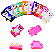 Fashionable 3D Cute Colorful Penguin Soft Silicone Gel Back Case Cover for iPhone 5/5S(Assorted Colors)