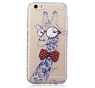 vidros cavalheiro teste padrão do girafa transparente TPU soft case para iphone 6 6s / iphone