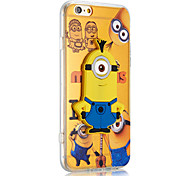 Yellow People Pattern Stand TPU Soft Phone Case for iPhone 5/5S