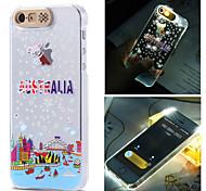 Austrália padrão cidade luz do flash sentido lcd caso capa Voltar para o iPhone 5 / 5s