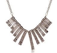 Fashion  Strip Pendant Drill Alloy Necklace