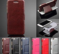 Ultra Thin PU Leather Full Body Cases Phone Protective Case with Stand for iPhone 6/6S