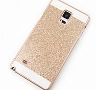 Para Samsung Galaxy Note Estampada Capinha Capa Traseira Capinha Brilho com Glitter PC Samsung Note 5 / Note 4 / Note 3