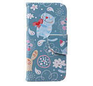 Lovely Cat Pattern PU Leather Full Body Cover with Stand for iPhone 6/iPhone 6s