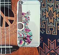 maycari® impressionistische Gitarre transparente TPU Tasche für iPhone 6 / iphone 6s