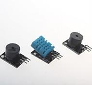 Active Buzzer Module + Temperature And Humidity Module + Passive Buzzer Module