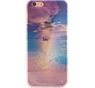 Set Out Pattern Transparent Smooth TPU Acrylic Soft Phone Case for iPhone 6/6S