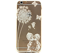 Dandelion love Pattern TPU Relief Back Cover Case for iPhone 6/iPhone 6S