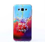 glücklich malerei muster erst TPU für Samsung-Galaxie j7