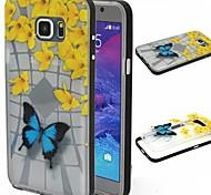 2-in-1 blauwe vlinder patroon TPU terug bedekken met pc bumper schokbestendig zachte hoes voor Samsung Galaxy Note 5