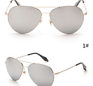 Sunglasses Women's Modern / Fashion / Aviator Oval Silver / Gold Sunglasses Rimless