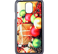 Christmas Gift and Bell Pattern PC Hard Back Cover Case for Samsung Galaxy S5