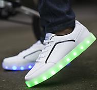 Men's Casual LED Shoes USB charging LED light luminous (Size:39-44)