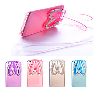 Transparent Rabbit Ears Design TPU Protective Back Cover with Stand for iPhone 6/6S (Assorted Colors)