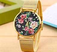 vintage rose métallurgique or de ceinture montres bracelet à quartz watch pour les femmes, montres unisexes