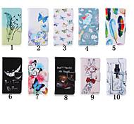 Funda de piel patrón especial de la PU billetera de 5 pulgadas con soporte para Samsung Galaxy on5 g550 (colores surtidos)