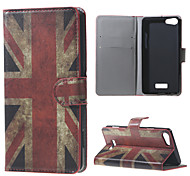 Vintage UK Flag  Wallet Leather Stand Case for BLU Vivo Selfie